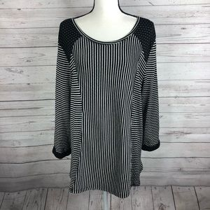 Habitat Black White Striped Tunic